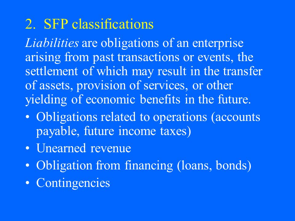 2. SFP classifications