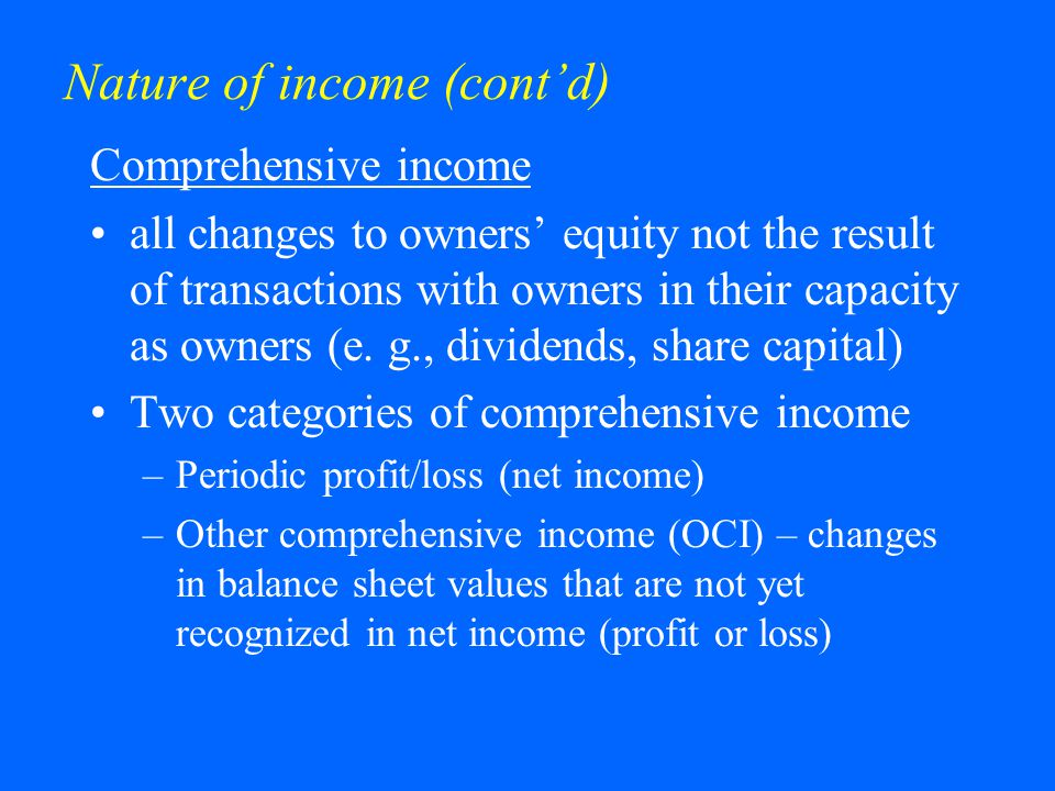 Nature of income (cont'd)