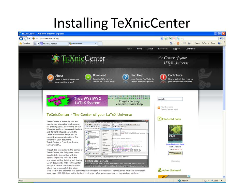 Installing TeXnicCenter