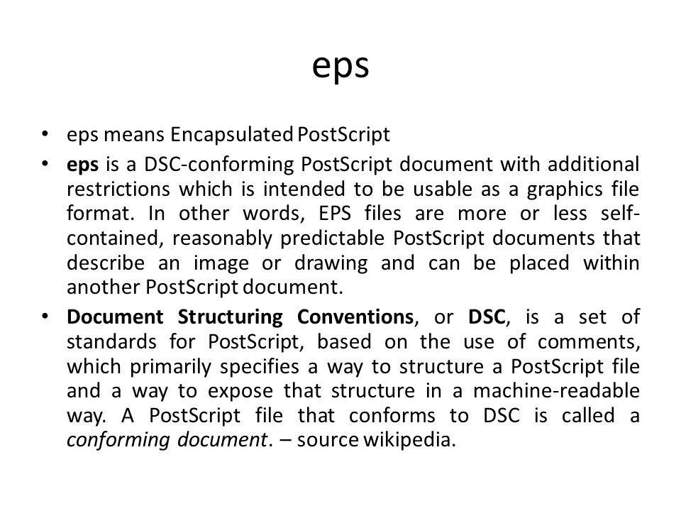 eps eps means Encapsulated PostScript