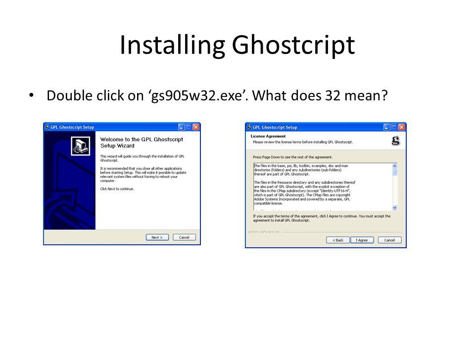 Installing Ghostcript