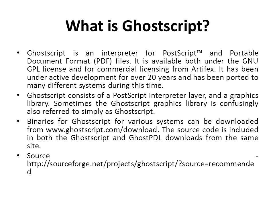 What is Ghostscript