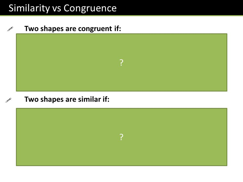 Similarity vs Congruence