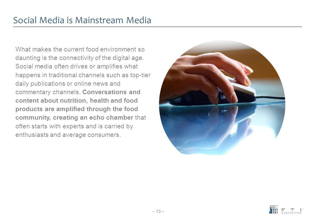 Social Media is Mainstream Media