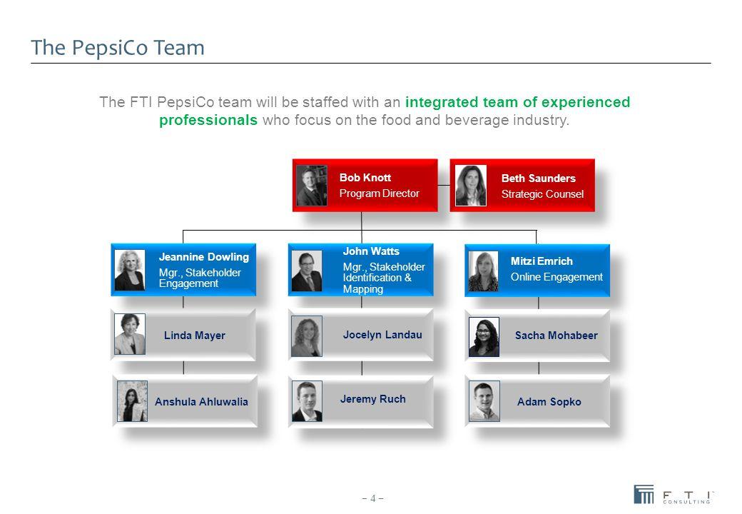 The PepsiCo Team