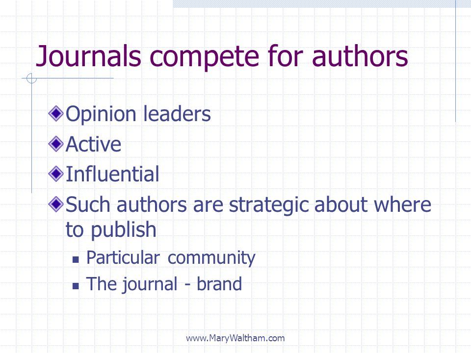 Journals compete for authors