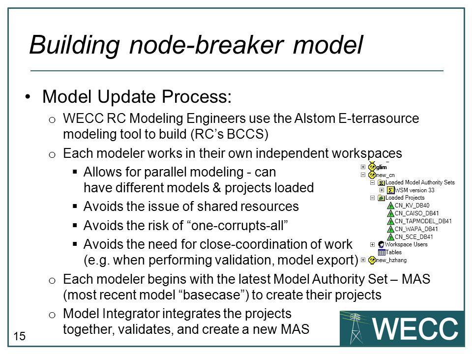 Building node-breaker model