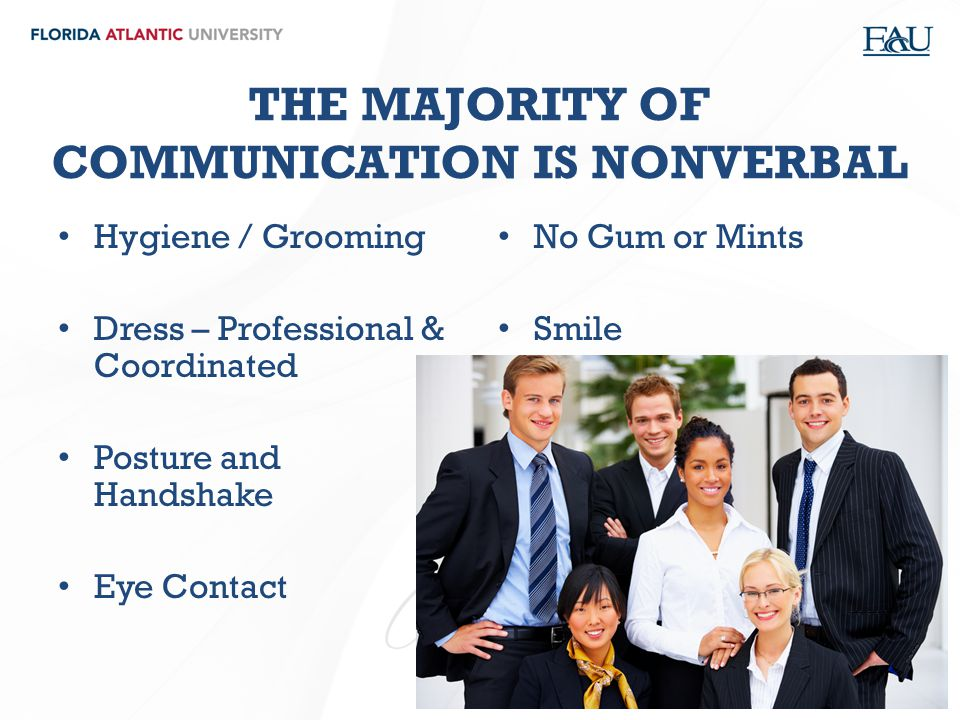 THE MAJORITY OF COMMUNICATION IS NONVERBAL