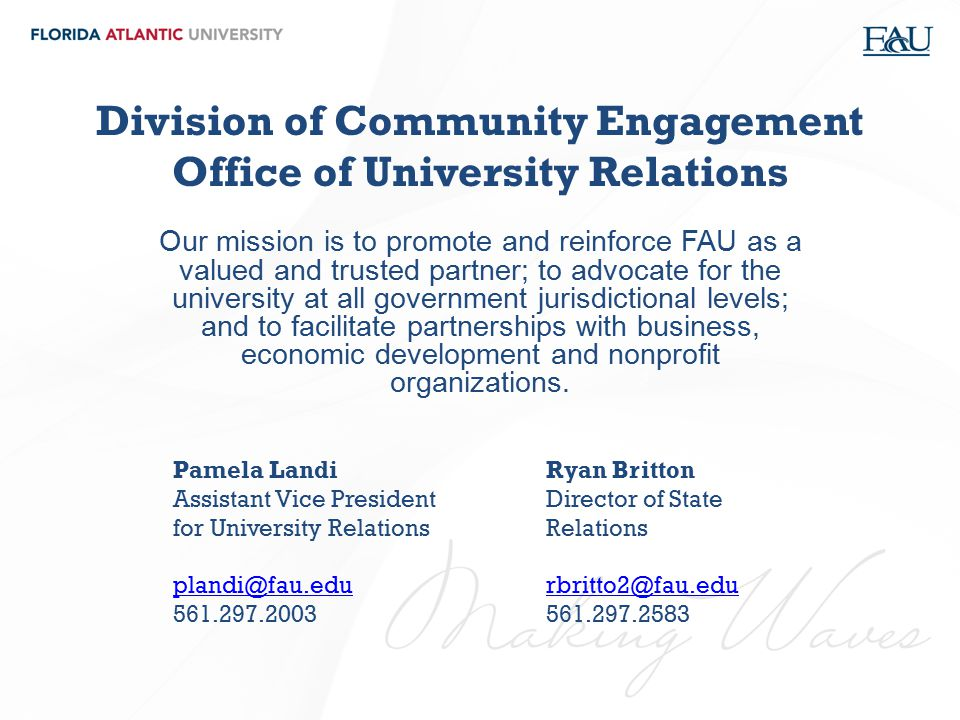 Division of Community Engagement Office of University Relations