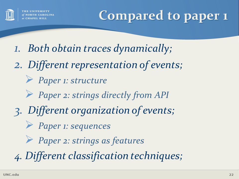 Compared to paper 1 Both obtain traces dynamically;