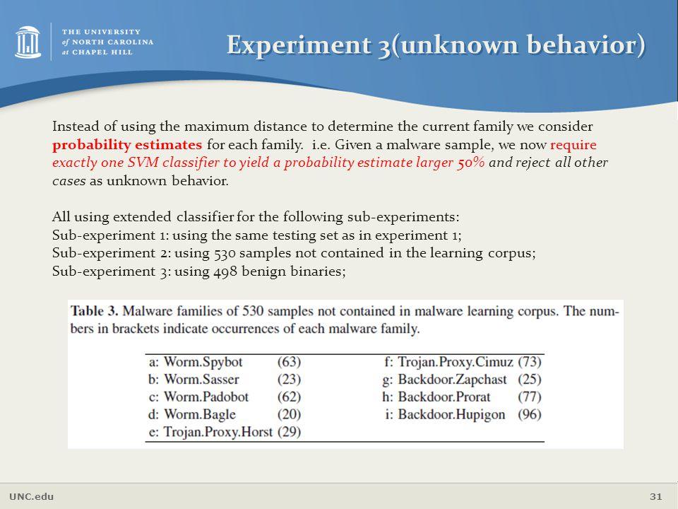 Experiment 3(unknown behavior)