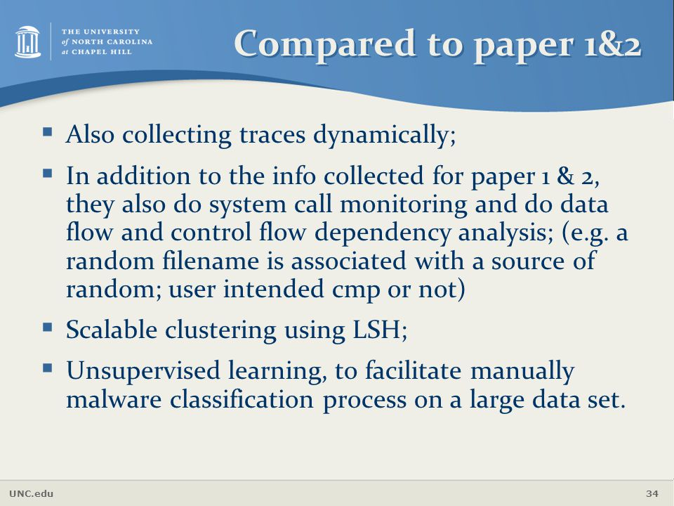 Compared to paper 1&2 Also collecting traces dynamically;