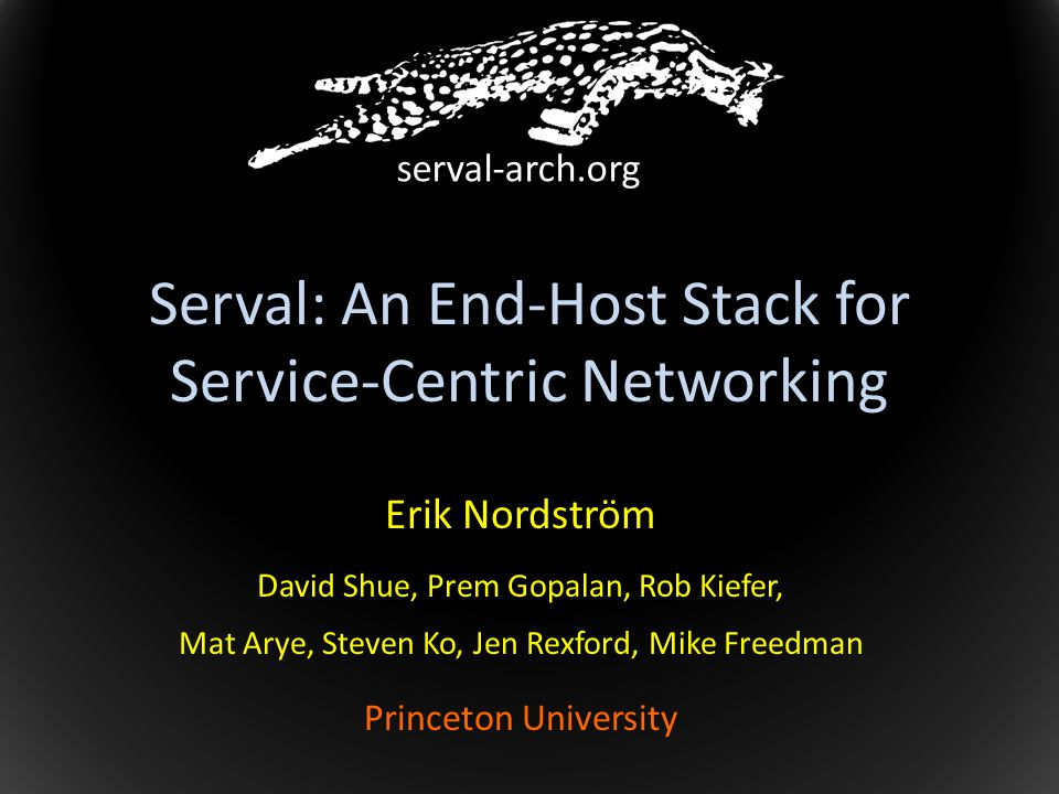 Serval: An End-Host Stack for Service-Centric Networking