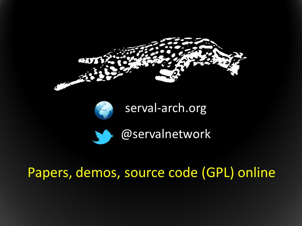 Papers, demos, source code (GPL) online