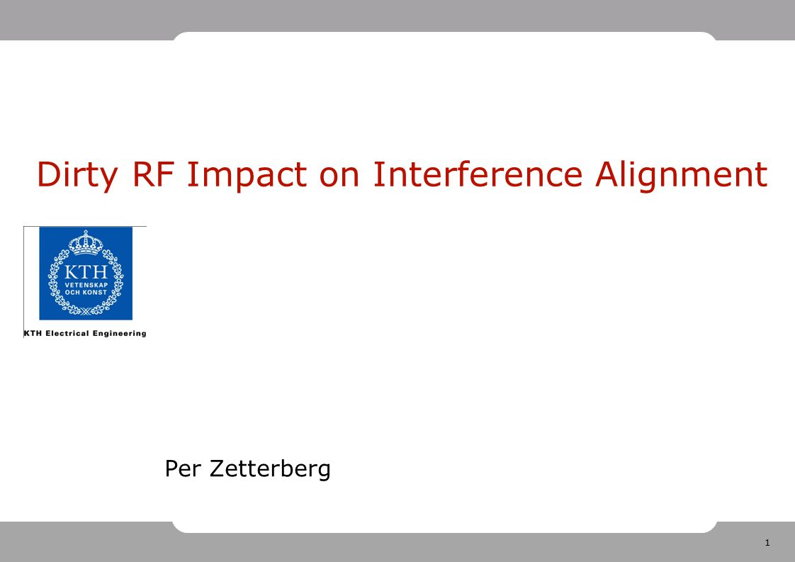 Dirty RF Impact on Interference Alignment