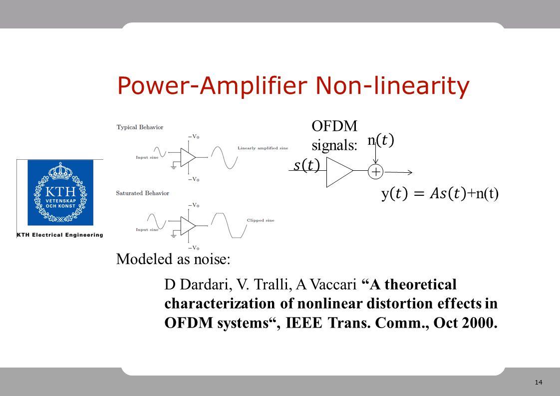 Power-Amplifier Non-linearity