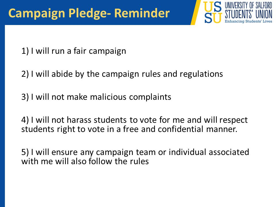 Campaign Pledge- Reminder