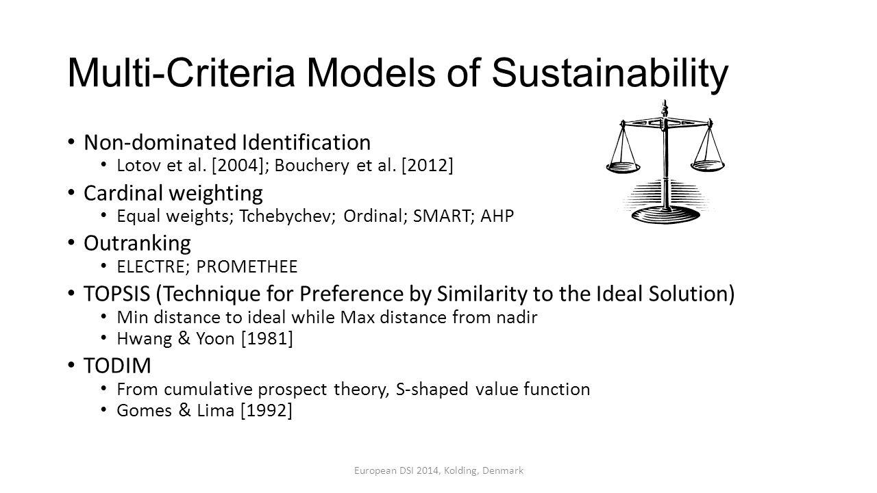 Multi-Criteria Models of Sustainability
