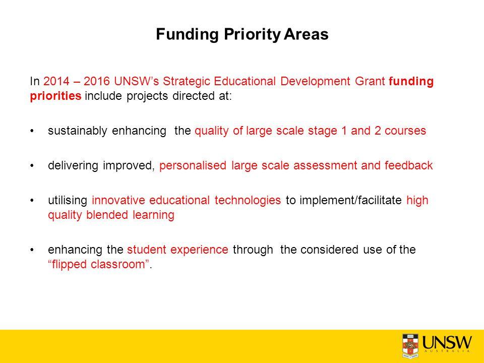 Funding Priority Areas