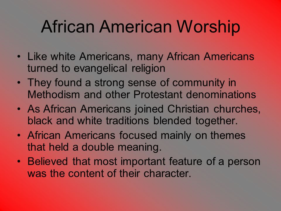 African American Worship
