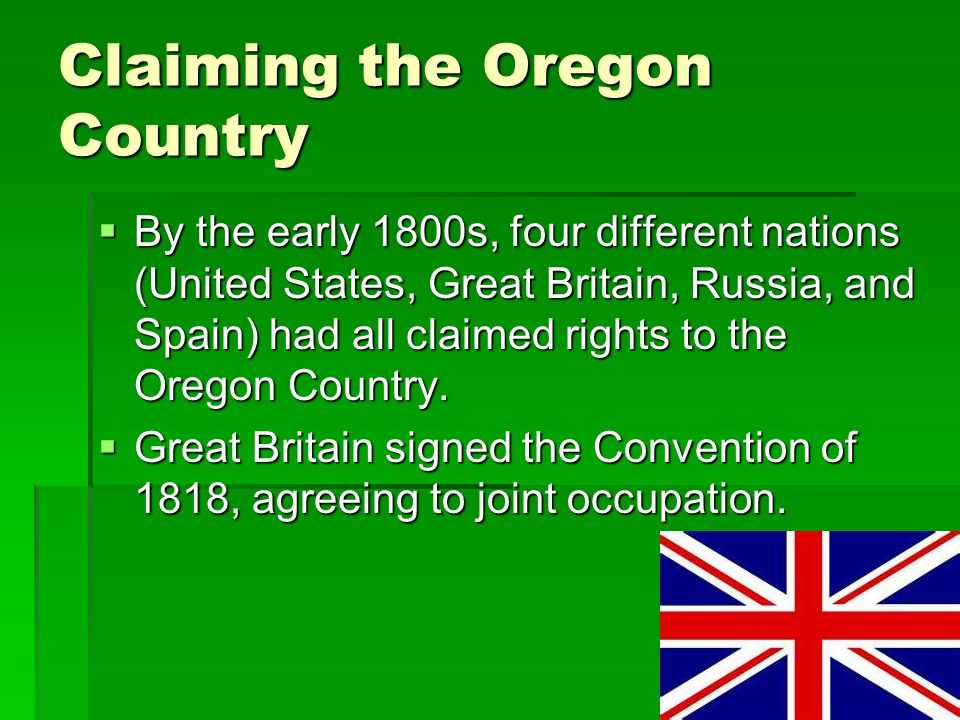 Claiming the Oregon Country