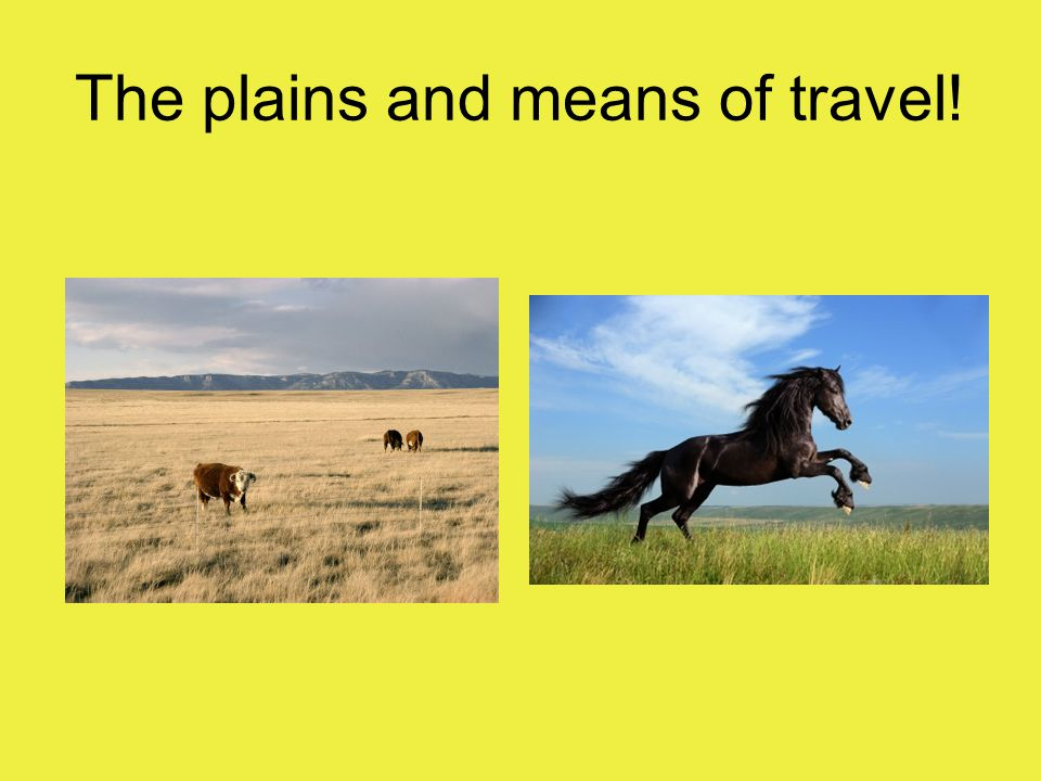 The plains and means of travel!