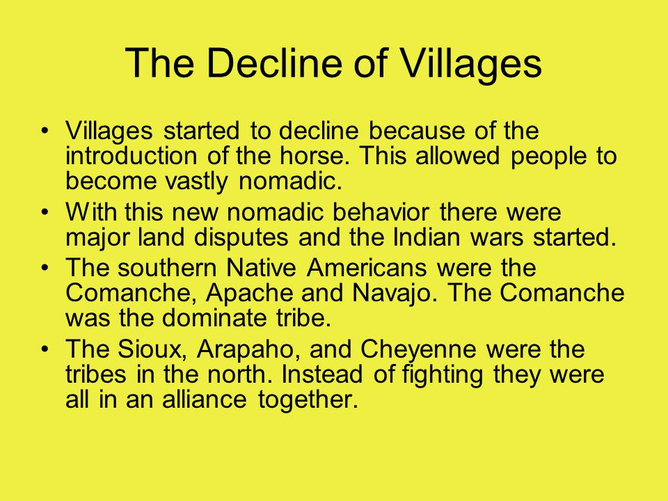 The Decline of Villages