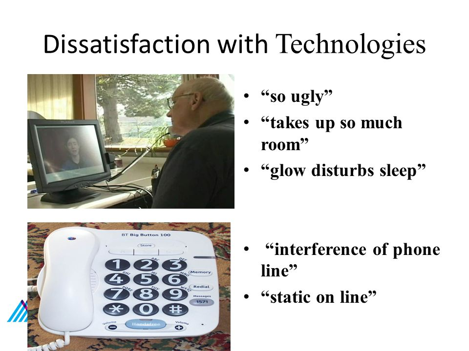 Dissatisfaction with Technologies