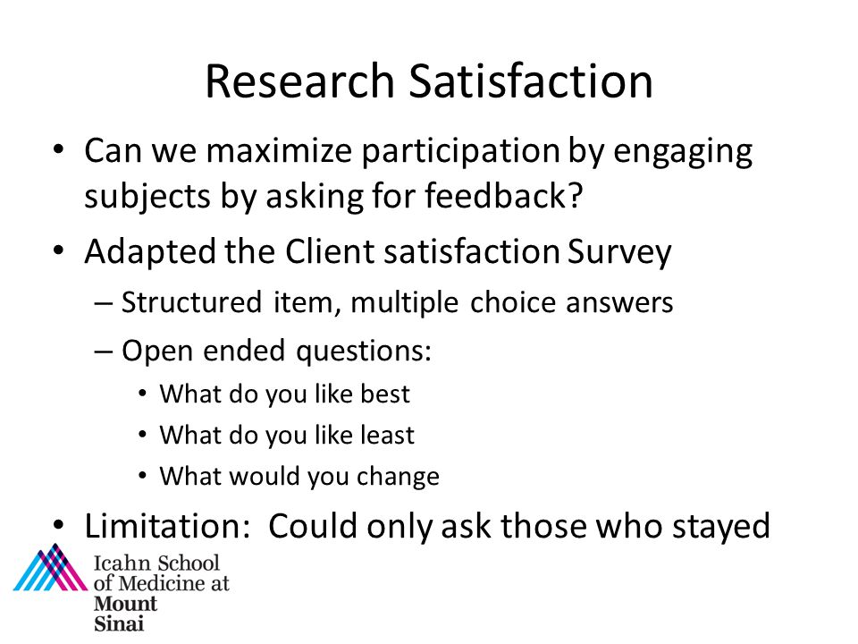 Research Satisfaction