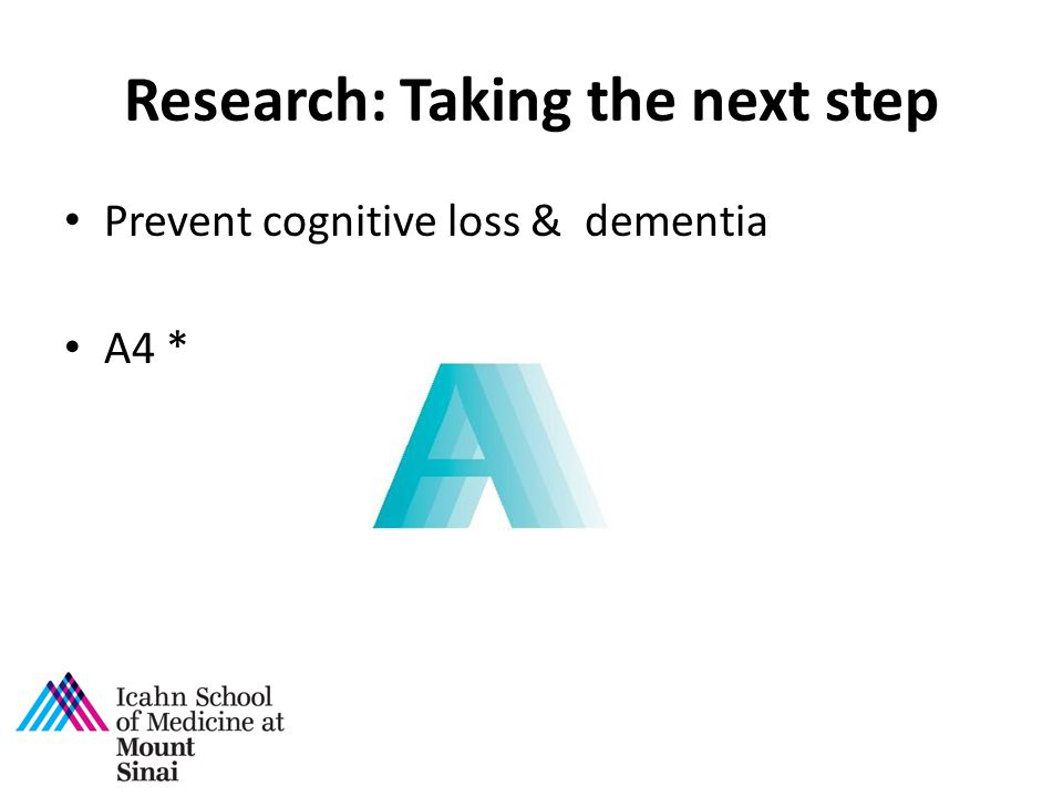 Research: Taking the next step