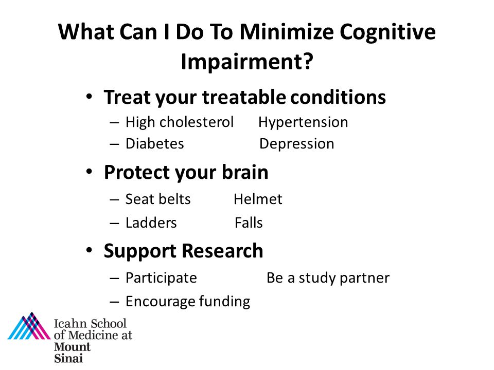 What Can I Do To Minimize Cognitive Impairment