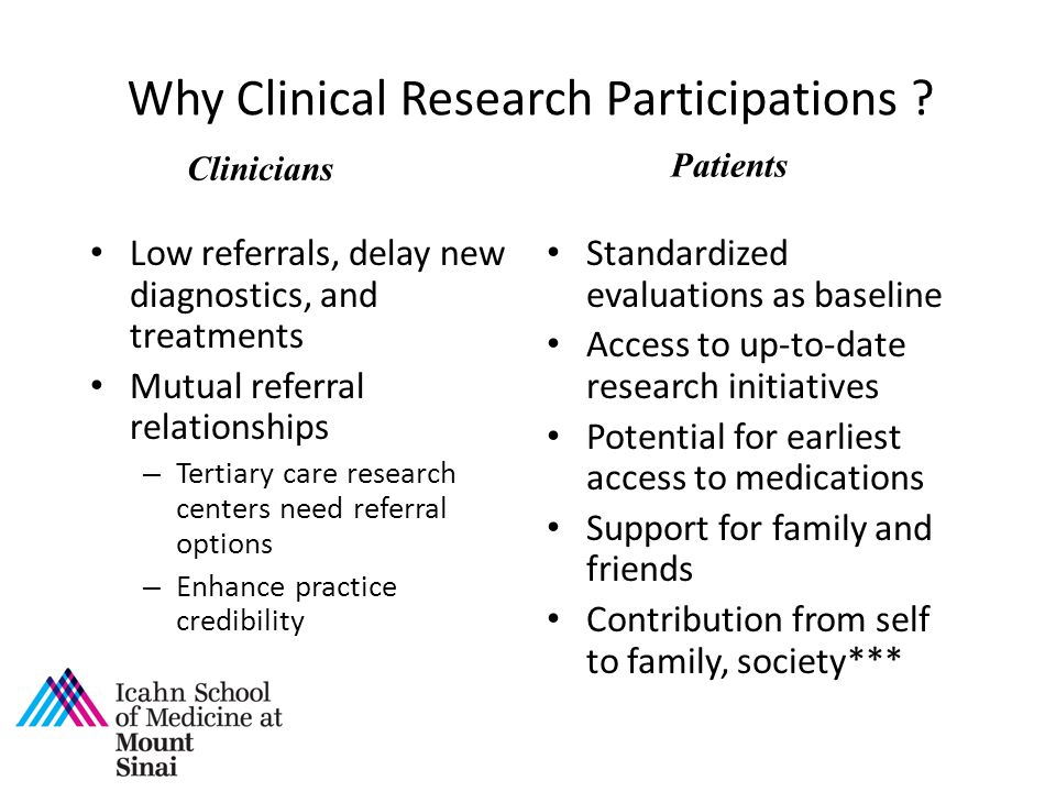 Why Clinical Research Participations
