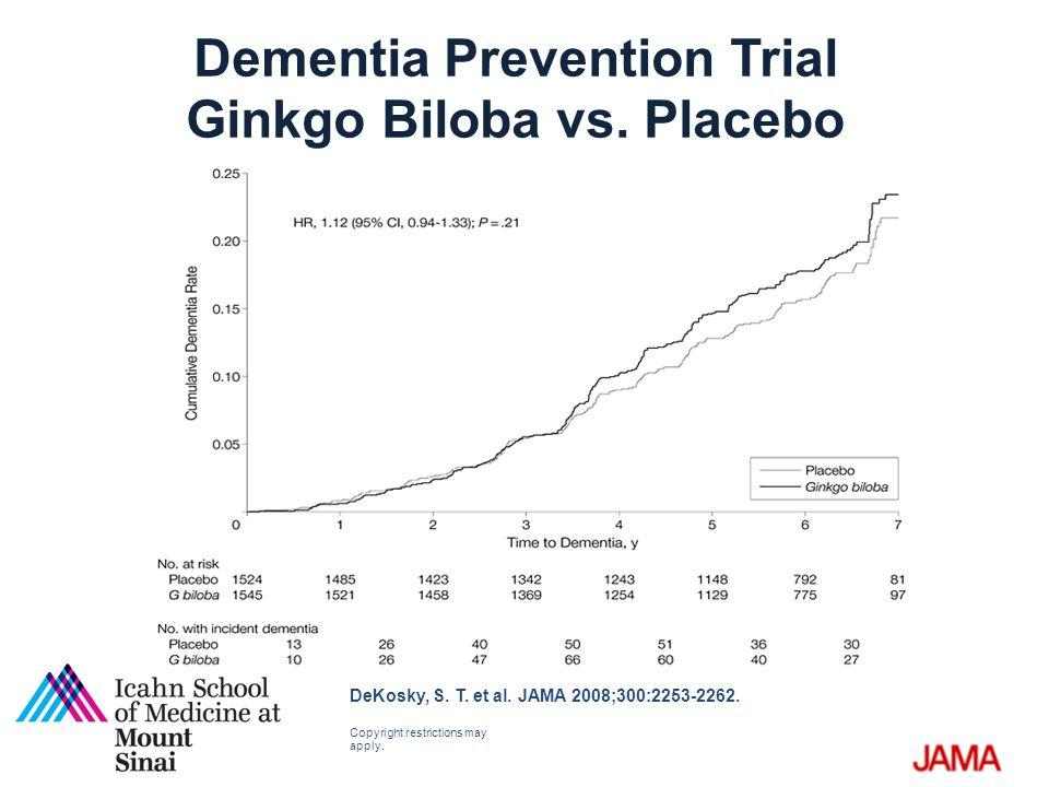 Dementia Prevention Trial Ginkgo Biloba vs. Placebo