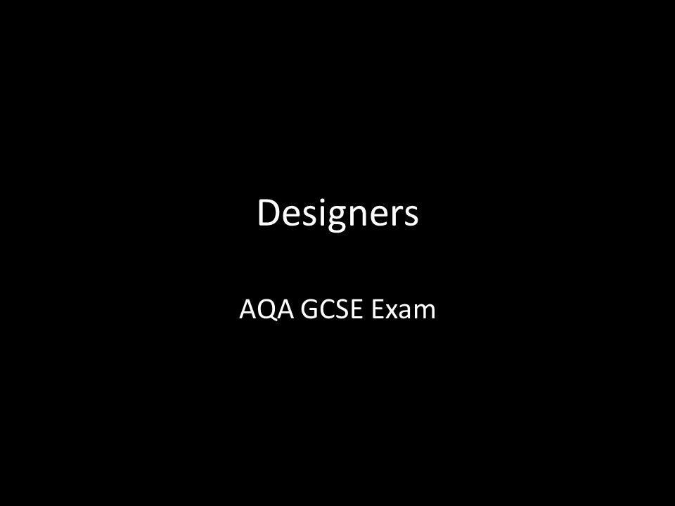 Designers AQA GCSE Exam