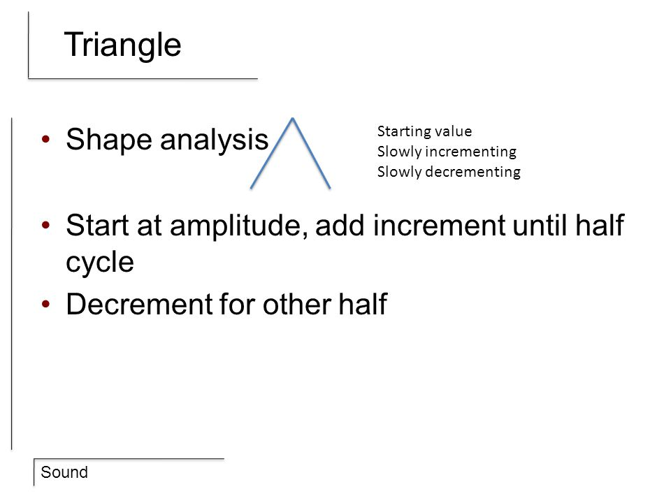 Triangle Shape analysis