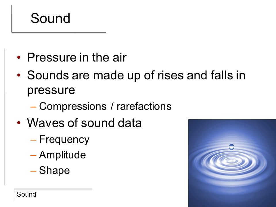 Sound Pressure in the air