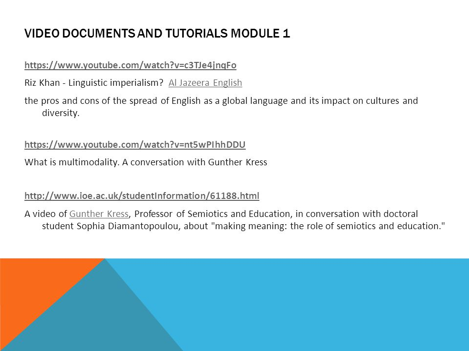VIDEO documents and tutorials module 1