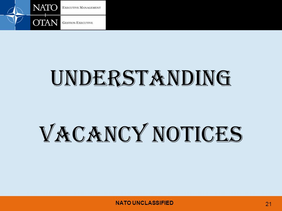 UNDERSTANDING VACANCY NOTICES