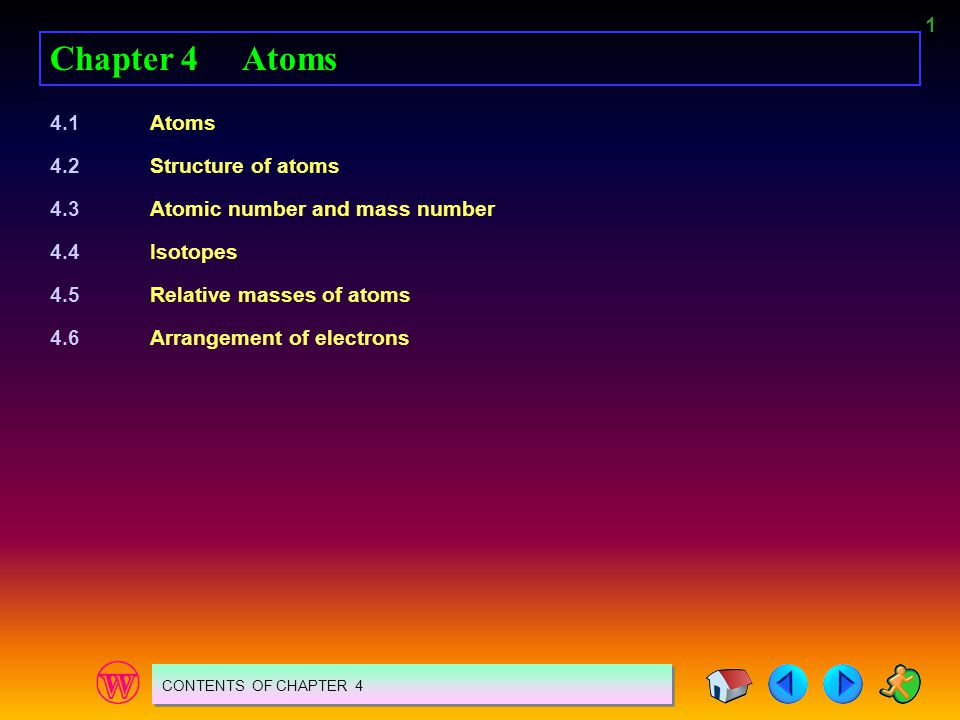 Chapter 4 Atoms 4.1 Atoms 4.2 Structure of atoms