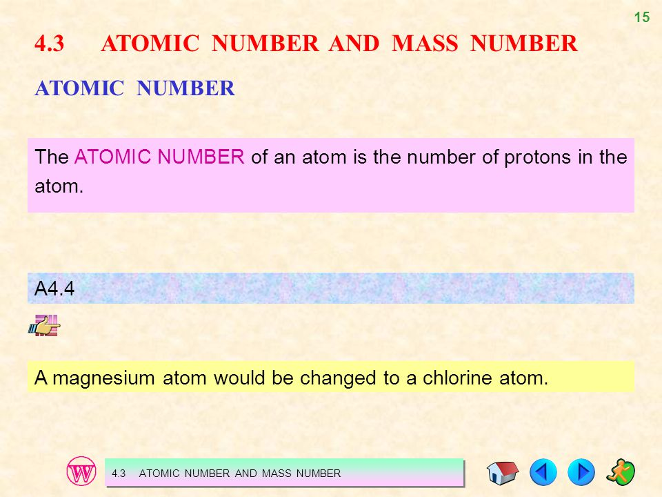 4.3 ATOMIC NUMBER AND MASS NUMBER