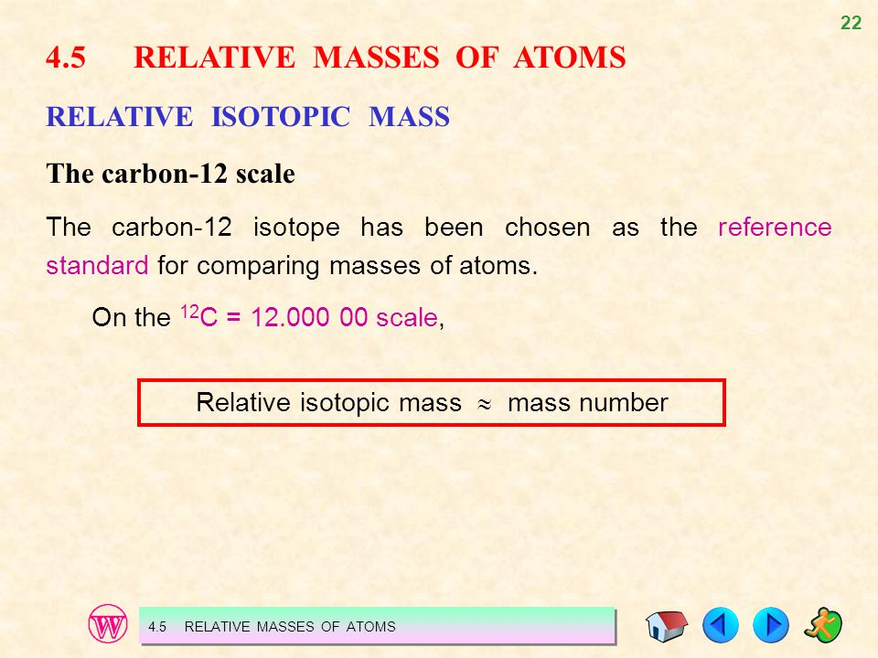 Relative isotopic mass  mass number