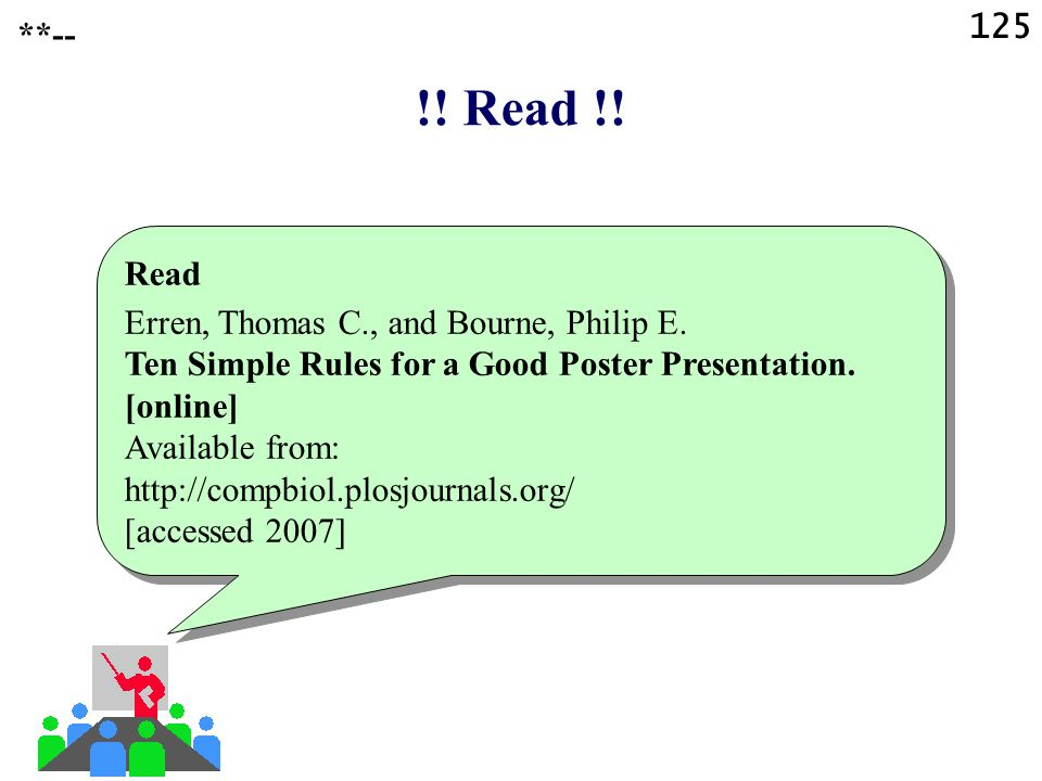 !! Read !! 125 **-- Read Erren, Thomas C., and Bourne, Philip E.