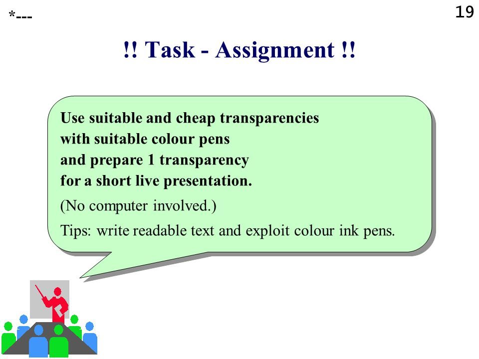 19 *--- !! Task - Assignment !!