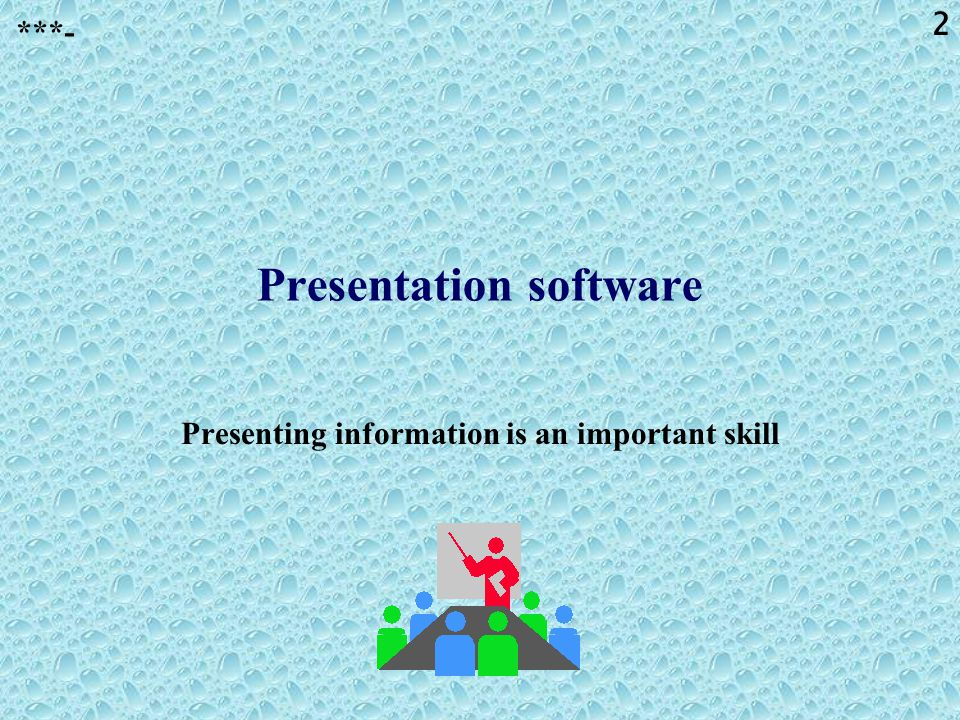 Presentation software