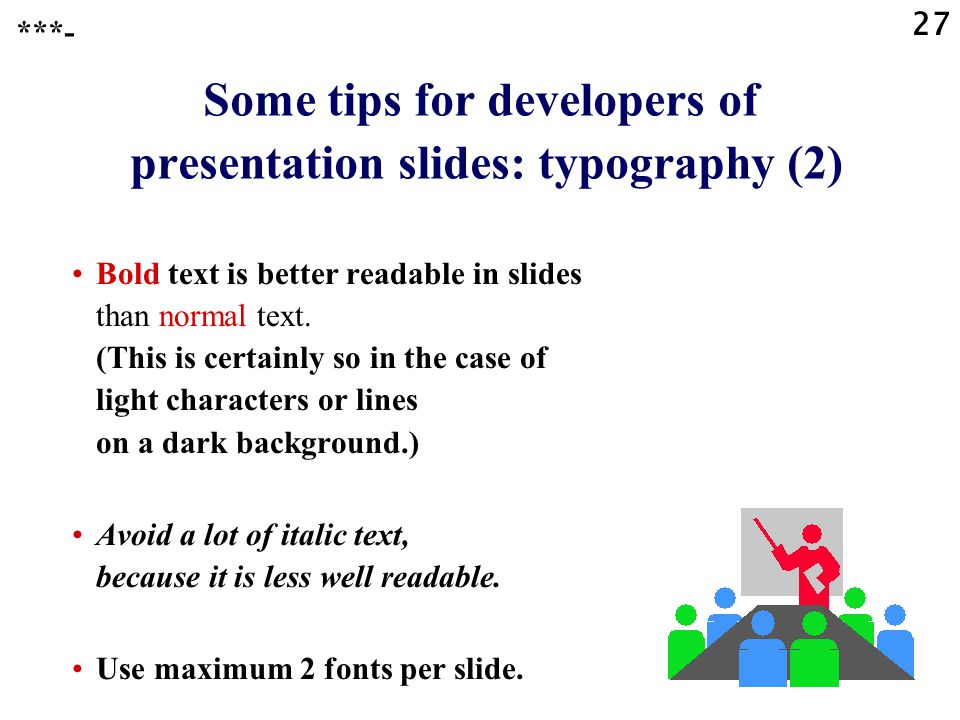 Some tips for developers of presentation slides: typography (2)