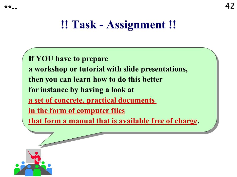 42 **-- !! Task - Assignment !!