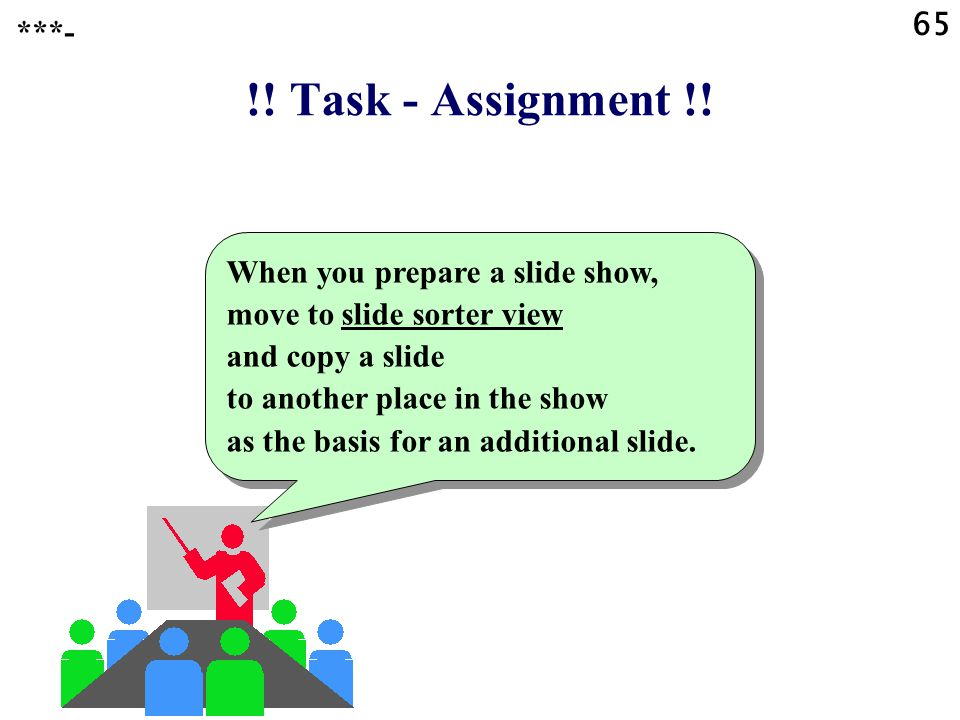 65 ***- !! Task - Assignment !!