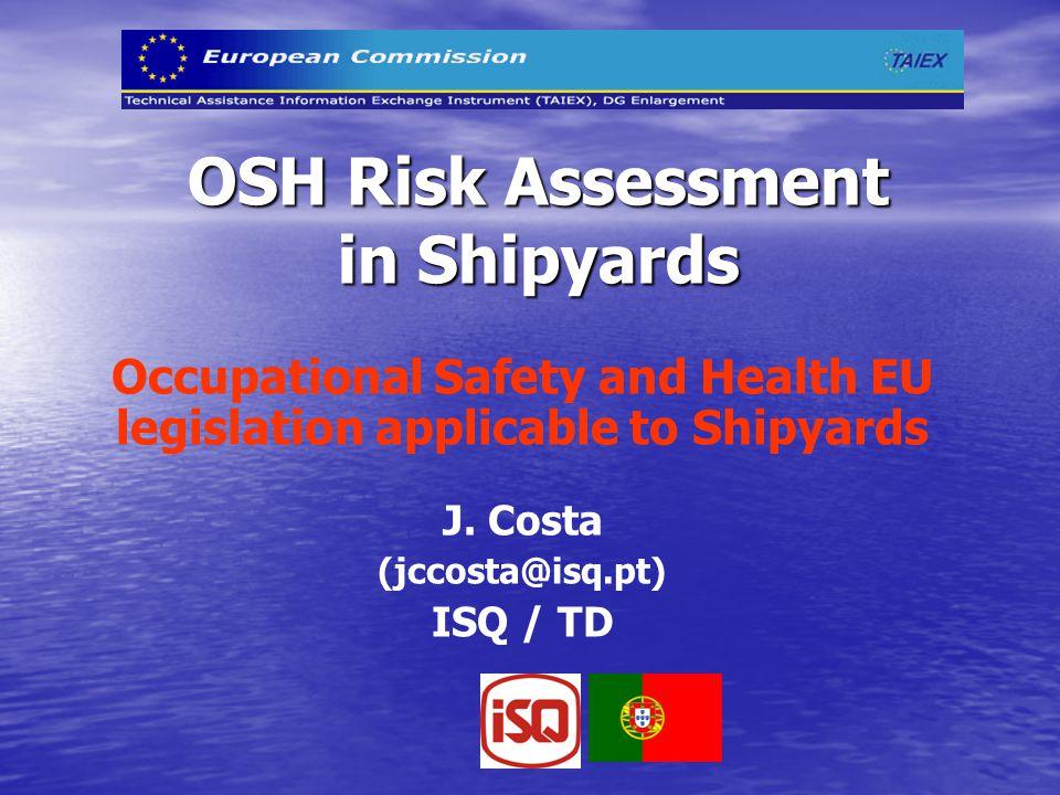 OSH Risk Assessment in Shipyards