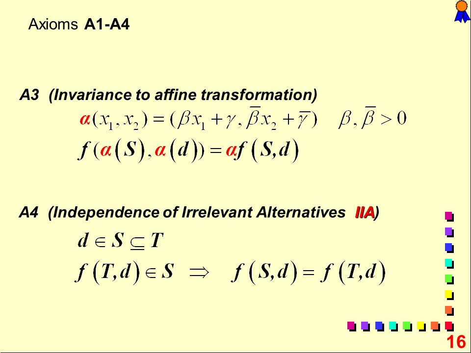 A3 (Invariance to affine transformation)