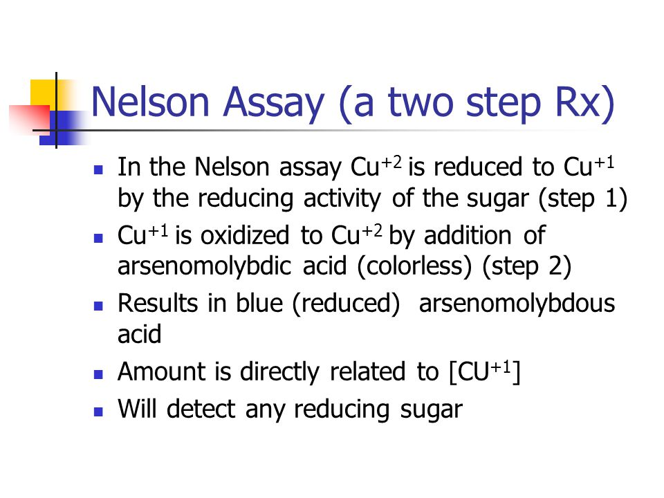 Nelson Assay (a two step Rx)